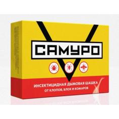 Инсектицидная дымовая шашка Самуро от клопов, комаров, мух, блох, ос. 50гр.