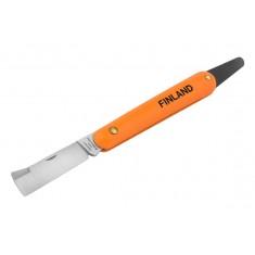 Нож прививочный с язычком для отгиба коры и прямым лезвием 1454