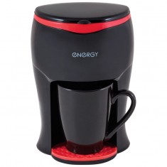 Кофеварка ENERGY EN-607 черная, 200 Вт, 1 чашка