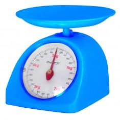 Весы кухонные механические ENERGY EN-405МК,  цвет синий (0-5 кг) круглые