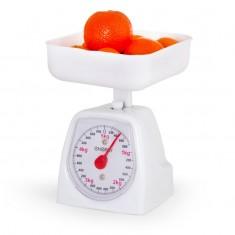 Весы кухонные механические ENERGY EN-406МК,  (0-5 кг) квадратные, белые