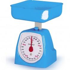 Весы кухонные механические ENERGY EN-406МК цвет синий,  (0-5 кг) квадратные