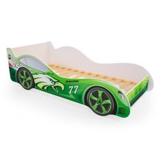 Детская кровать машина Зеленая