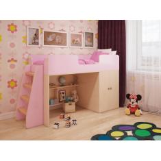 """Детская игровая кровать чердак """"Розовая"""""""