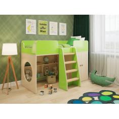 """Детская игровая кровать чердак """"Зеленая"""""""