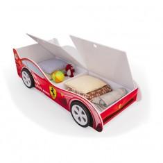 Детская кровать машина Красная с ящиками