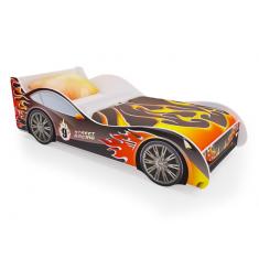 Детская кровать машина Пламя с ящиками