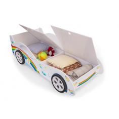 Детская кровать машина Радуга с ящиками