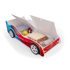 Детская кровать машина Спайдер-Мен с ящиками
