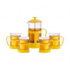 Набор Чайный/кофейный (кофе-пресс и 2 чашки)  PFP01-600ML-SET, цвета в ассортименте