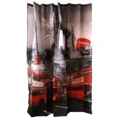"""Занавеска для ванной Curtain-Bus """"Лондонский автобус"""", 180x180см"""