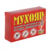МУХОЯР - дымовая инсектицидная шашка от мух, комаров, ос. 50г
