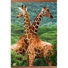 """Гибкий пленочный обогреватель, картина """"Жирафы"""" на стену. Производитель «Домашний очаг»"""