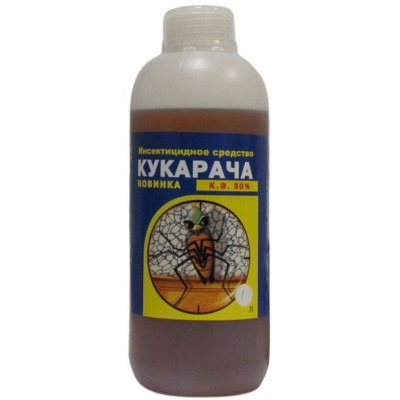Средство от клопов, тараканов, муравьев, блох Кукарача, 1 литр