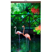 Гибкий настенный обогреватель Розовый фламинго