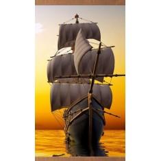 Гибкий ИК обогреватель панно на стену Домашний очаг Корабль