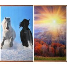 Гибкий обогреватель двусторонний  «Домашний очаг» Лошади + Осенний лес
