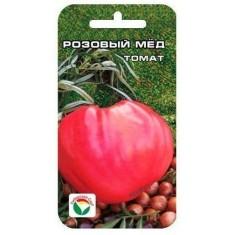 Семена Томат сорт Розовый мед, 10 пачек (среднеспелый, плод до 1500 г., высота 60-70 см, теплица или открытый грунт. 20шт.)
